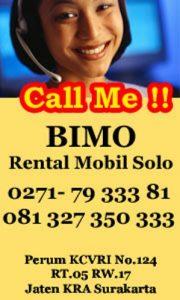 sewa mobil Solo BIMO